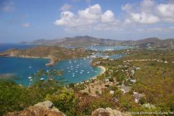 Antigua beaches and yachts and harbor as viewed from Shirley Heights.jpg