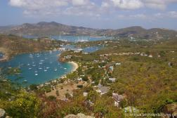 Hills and marina and ships viewed from Shirley Heights Antigua.jpg