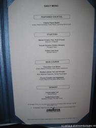 Norwegian Dawn dinner menu in Antigua offering Lobster.jpg