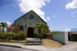 Small copper colored church in Antigua.jpg