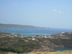 View of the Caribbean ocean from a hill in Antigua.jpg